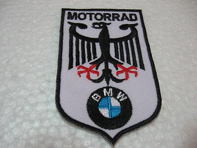 2x Aufnäher BMW Aufbügler Patch Motorcycles Motorradsport Motorradcross Biker GT