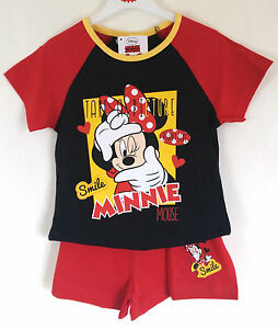 DISNEY-MINNIE-MOUSE-GIRLS-PYJAMAS-NEW-WITH-TAGS-4-5-5-6-YEARS-100-COTTON