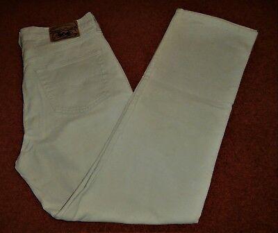 """Rapimento Lee Cooper Beige W34"""" L32"""". Gamba Dritta, Vintage Jeans Taglio.-"""