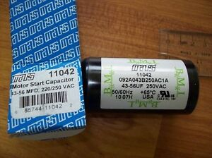 Motor Start Capacitor 59-71 MFD 220-250 VAC MARS 11084