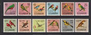 Ecuador - 1966, 40c - $10 Complete Birds set - MNH - SG 1320/31