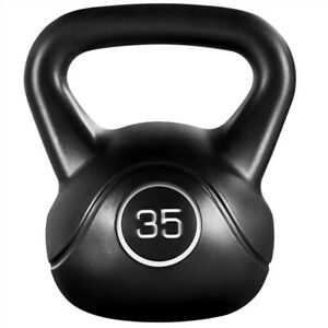 35lbs Kettlebell HDPE Coated Kettle Bells for Home Gym Fitness Workout Bodybuild