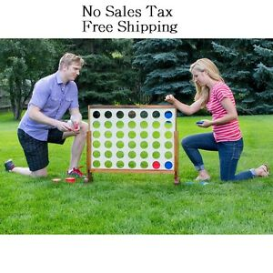Giant Connect 4 In A Row Jumbo Game Toys Kids Adults Teens Yard Oversized Games