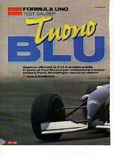 W9 Ritaglio Clipping 1995 Formula 1 Test Sauber Tuono Blu C14 Wendlinger