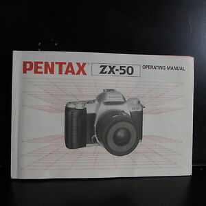 pentax zx 50 operating manual user guide oenwer english version rh ebay com Pentax Optio Soft Optio Pentax Swivel