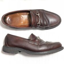 ba05856d282 Alden Men s Shoes Horse Bit Loafer Dark Brown 10.5 B D USA Rare Vintage 8503