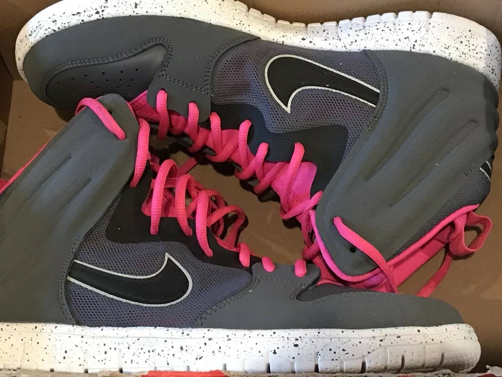 a2d49c21b55a ... New Nike Dunk Free Trainer Size 9.5 Gray Pink Pink Pink Black  599466-002 0a360f