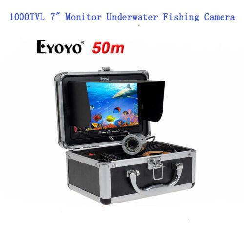 "Eyoyo Underwater 50M//165ft Fish Finder Sea//Ice Fishing Camera 1000TVL 7/"" Monitor"