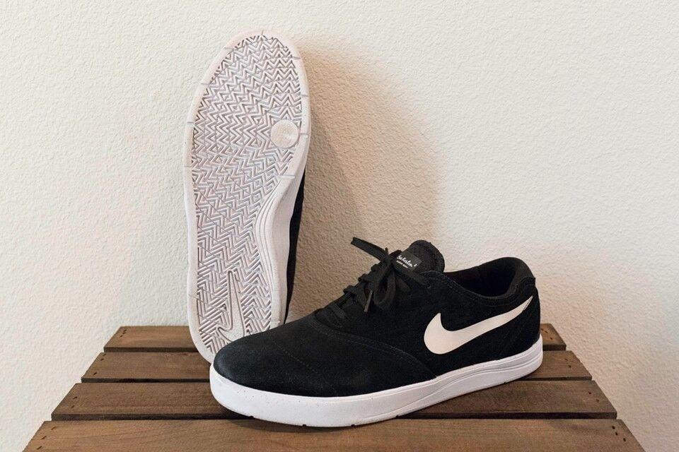 Nike SB Eric Koston 2 shoes men size 12 black white skateboarding