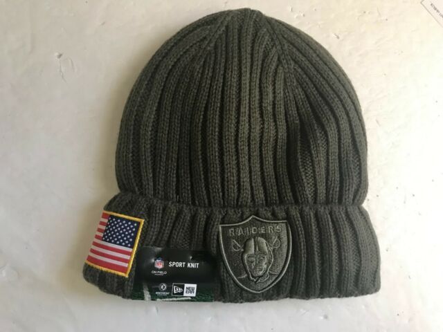 40ecdae5c ... free shipping new era oakland raiders nfl sideline salute to service beanie  cuff knit hat ba22a