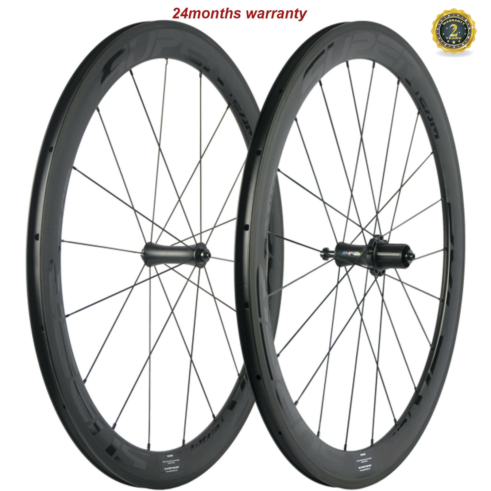 SUPERTEAM Carbon Road Bicycle Wheels 23mm Width 50mm Clincher Wheelset  R7 Hub  save up to 70%