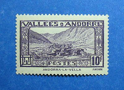 Stamps 1932 Andorra French 10f Scott# 62 Michel # 46 Unused Nh Cs26445 Goods Of Every Description Are Available