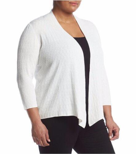 Sweater Kasper Hvid 782418549769 Flyaway Nwt Cardigan 89 1x Textured Plus Size vn1YvrOx