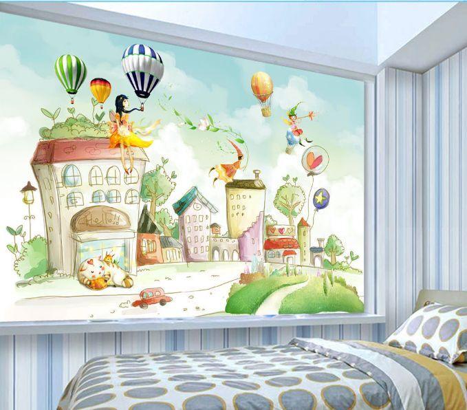 3D Maison Heureux 4 Photo Photo Photo Papier Peint en Autocollant Murale Plafond Chambre Art d90c6a