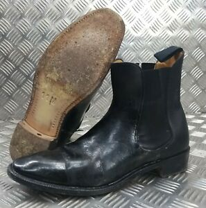 Genuine British Military Officers Chelsea Boots Black Leather Ceremonial Faulty