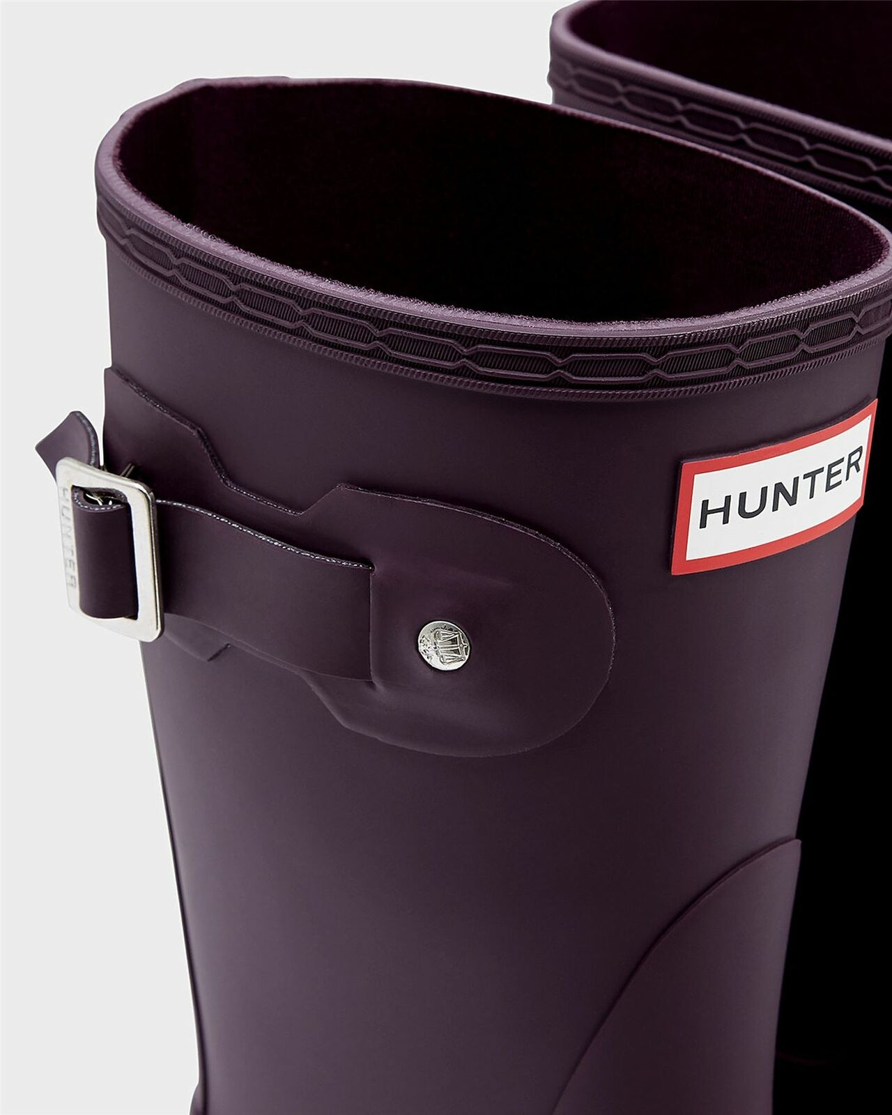 Hunter Ladies Original Short Black Grape Wellington Boots WFS2000RMA