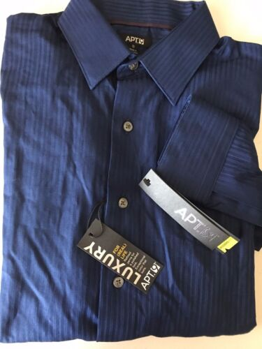 APT 9 Mens Dress Shirt Modern Fit Luxury Striped NWT