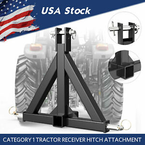 Details about 3 Point Trailer Receiver Hitch Tow Drawbar Cat 1 Tractor  Thicken Steel Upgrade