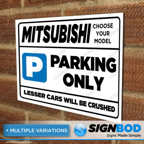 Parking Sign Gift for Mitsubishi Owner Birthday Present for Men or Women