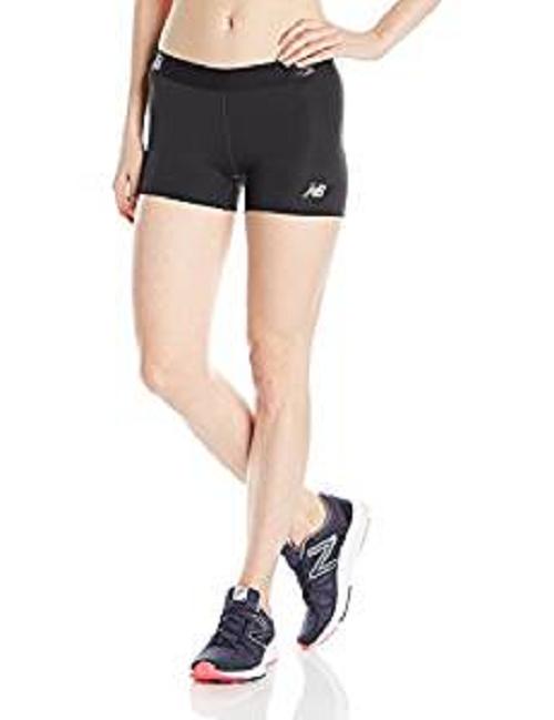 New Balance Women's Accelerate Hot Shorts, Black, X-Large