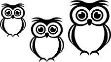 Cute Owl Bird Set Car,Van Camper Bonnet Bumper Window Wall Sticker LSB06