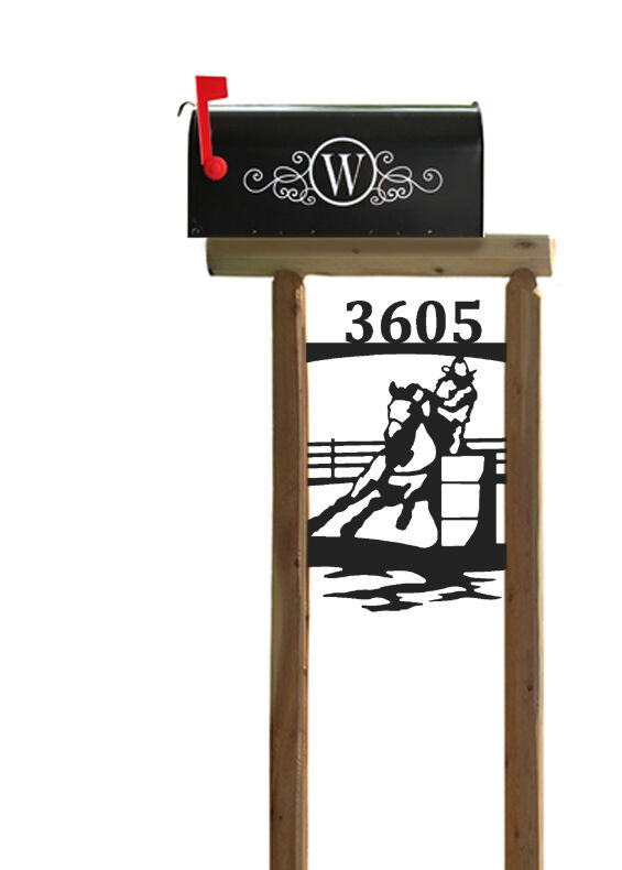RODEO PERFORMANCE  HORSE  MAILBOX POST - HORSES - EQUESTRIAN  the lowest price