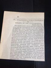 H7-1 Ephemera Times 1892 Article Hms Victoria Steaming Malta Court Martial Trial
