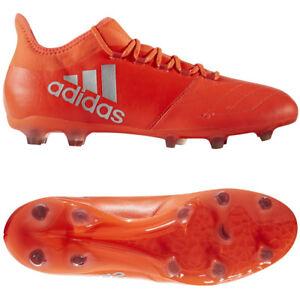 Adidas X 16.2 FG Nockenschuh silber schwarz rot