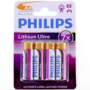 Philips LITHIUM Ultra AA FR6 1.5V Batteries (4 PACK) 8712581359577 ... 48938199ec53b