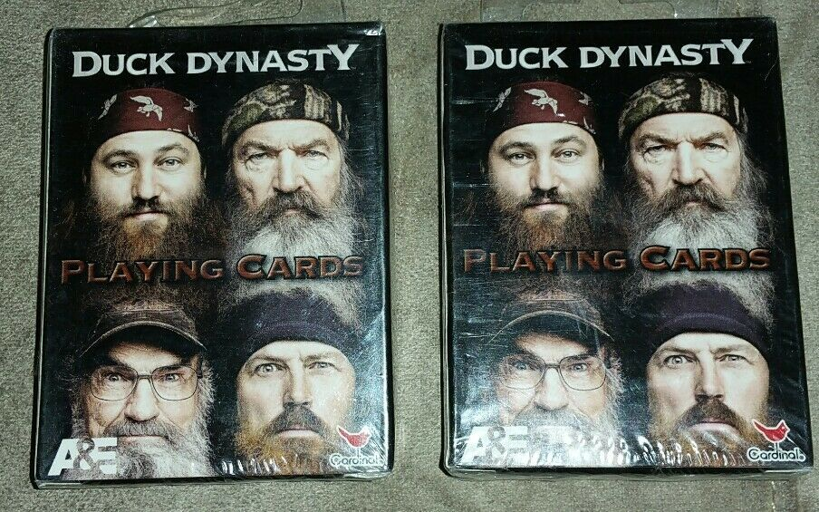 Duck Dynasty Playing Cards Licensed Jase Willie Si Phil Beard Commander A/&E New