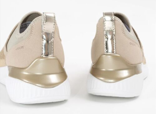 Scarpe Geox Theragon Slip Pelle Donna D848sa Respira Camoscio Sneaker Paillettes wtr65Ttq
