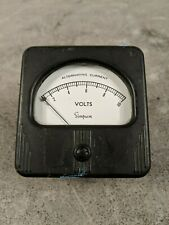 Simpson Electric 3 0 10 Ac Volts Analog Panel Meter Model 57