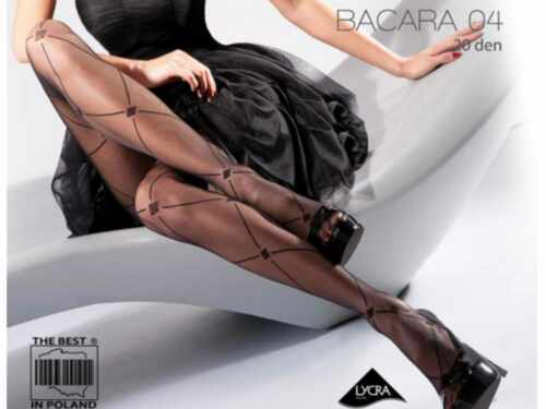 Black Sheer Fancy Patterned Tights Gabriella Bacara 04 20 Denier Large Diamonds