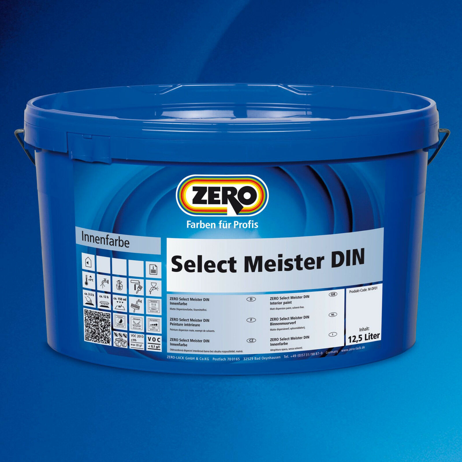 5x ZERO Select Select Select Meister DIN weiß 12,5 Liter-Airlessgeeignet+Lösemittelfrei-587609 61dae4