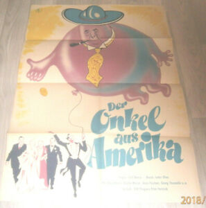 A1 Filmplakat DDR,DER ONKEL AUS AMERIKA ,HANS MOSER,GRETHE WEISER,ARNO PAULSEN