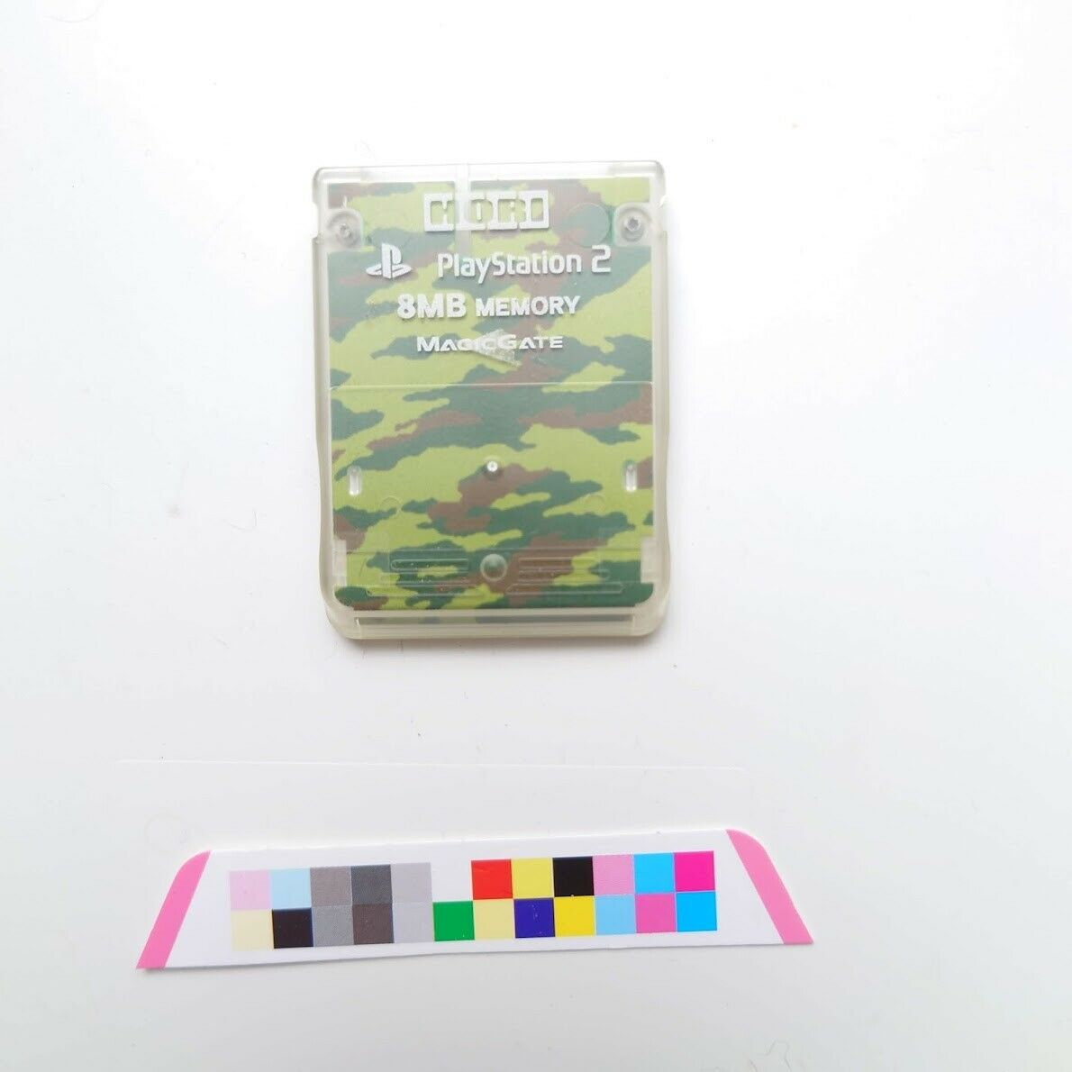 JAPAN MADE Official Sony PS2 Memory Card 8Mb PlayStation Hori Camouflage Green