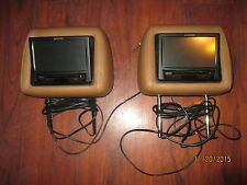 """Audiovox OEM Set of (2) 7"""" Headrest Monitors with Built-in DVD Player"""