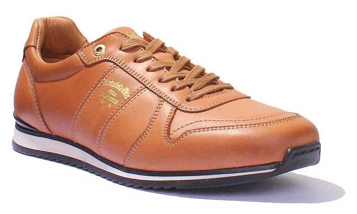 Pantofola D'Gold Teramo Mens Honey Leather Matt Low Top Trainers UK Größe 6 - 12