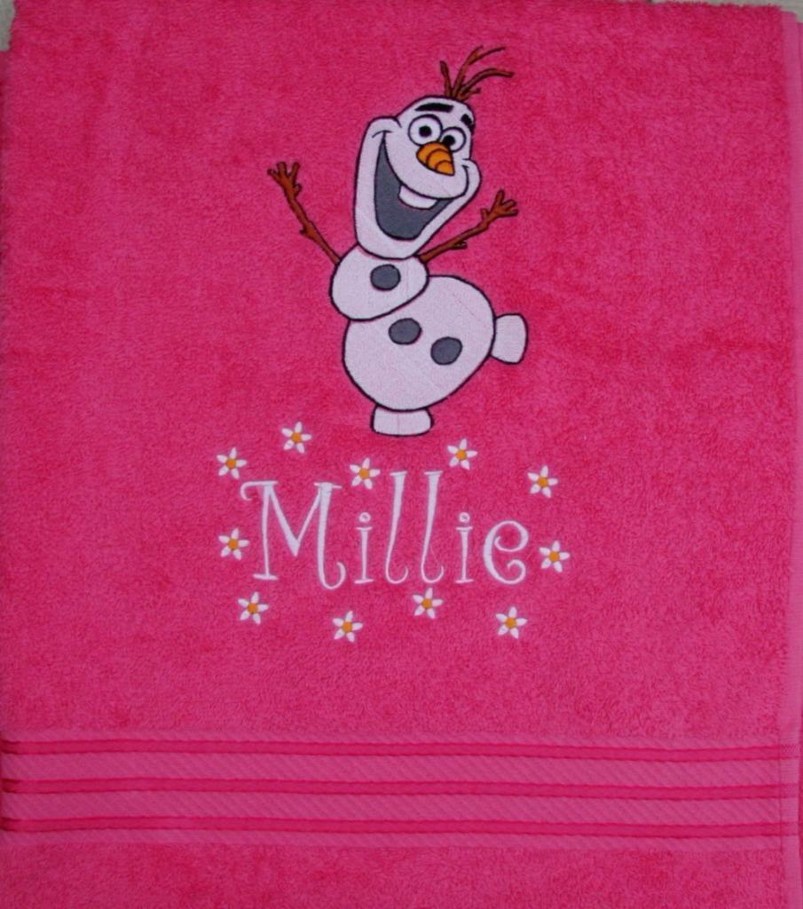 QUALITY LUXURY BATH TOWEL Olaf Snowman - Disney Frozen - PERSONALISED ANY NAME!