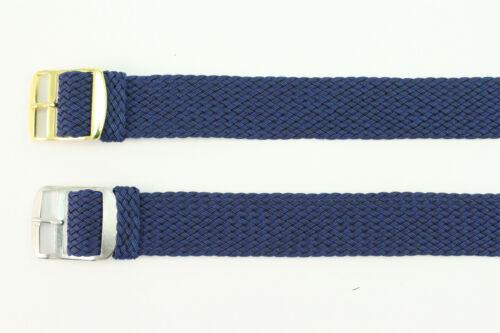 18mm Perlon strap Nylon strap Uhrenarmband Textilband Blau Länge XL