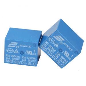 10pcs-Mini-5V-DC-SONGLE-Power-Relay-SRD-5VDC-SL-C-PCB-Type