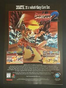 Battle Arena Toshinden 2 Ps1 Psx Playstation 1 Ad Print Poster