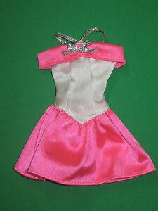 BARBIE-FASHION-HOT-PINK-amp-WHITE-PARTY-DRESS-MATTEL