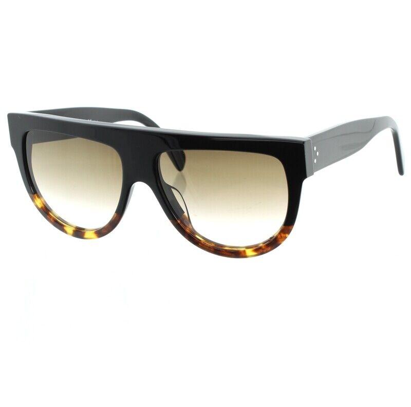 Celine Shadow Black Ladies Sunglasses Dark Havana Tortoiseshell CL 41026/S FU5