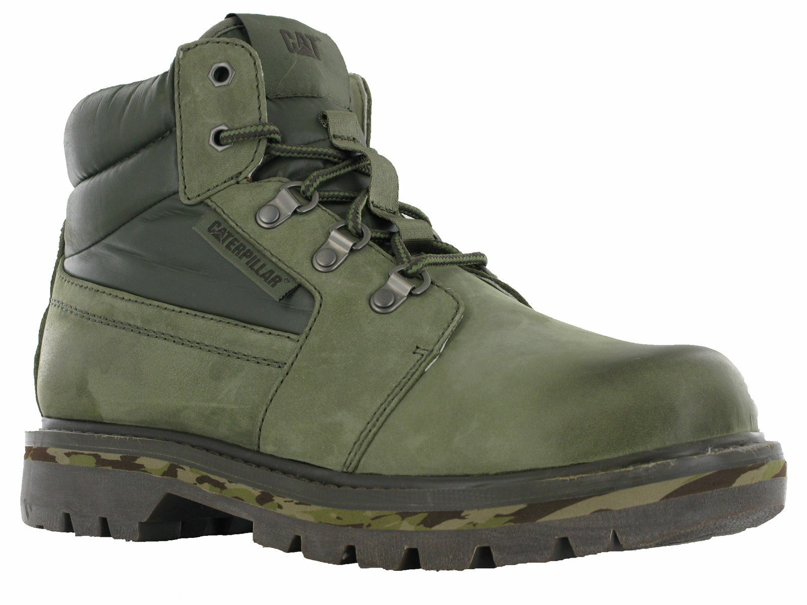 Caterpillar Junction Suede Padded Leather Ankle Padded Suede Burnt Olive Army Winter Boots c28fec