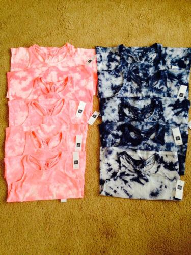 NWT Gap Kids Pink and Blue Cotton Tie Dye Tank Top Girls