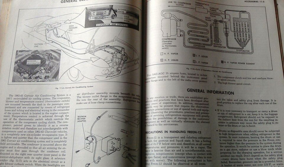 Shop Manual Supplement, 1962-63 Chevy Corvair.