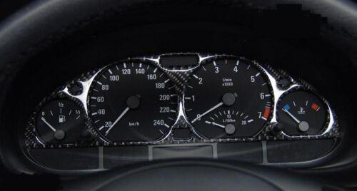 FOND COMPTEUR VITESSE CADRAN JAUGE FIBRE CARBONE NOIR pour BMW E36 SERIE 3 90-01