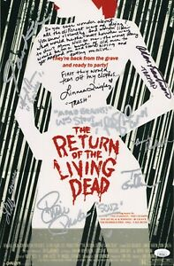 RETURN-OF-THE-LIVING-DEAD-Cast-x10-Authentic-Hand-Signed-11x17-Photo-JSA-COA