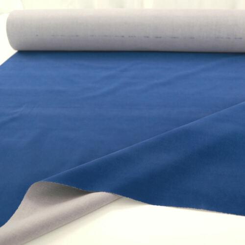 2m Robuster PolsterStoff Wildleder Mikrofaser Bezugstoff Meterware Blau SELTEN
